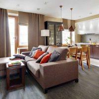 moderna dzīvokļa skaista dizaina iespēja 65 kv.m bilde