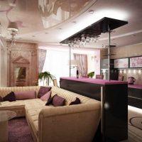 neparasta dzīvokļa dekora piemērs - 65 kv.m foto