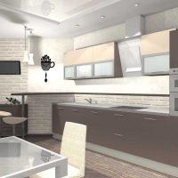 Spilgta dzīvokļa dizaina piemērs 65 kv.m fotoattēlam