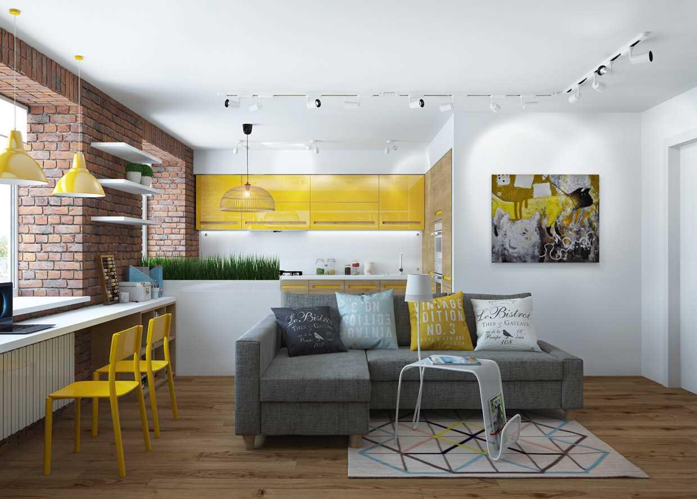 Dzīvokļa ar spilgtu dekoru 65 kv.m piemērs