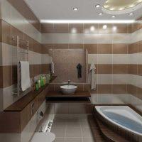 ideja par moderna stila vannas istabu 6 kv.m bildi