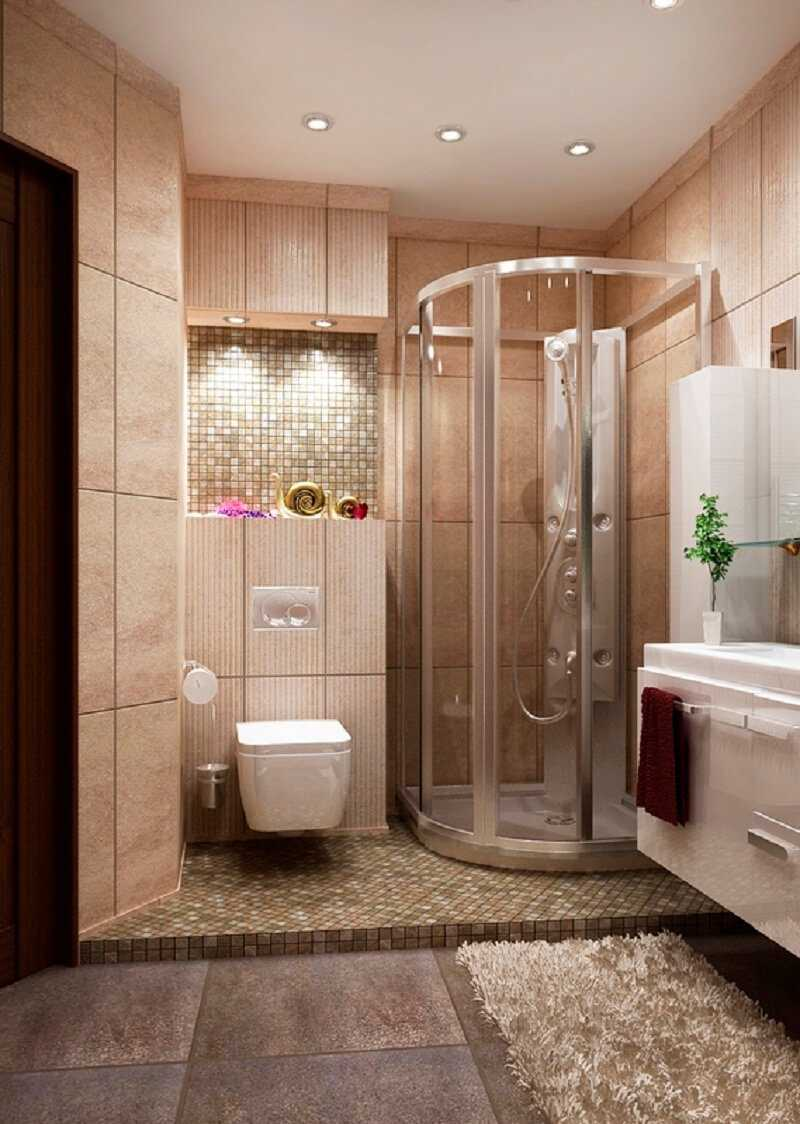 vannas istabas neparastā dizaina versija 6 kv.m.