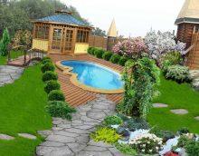 dārza fotogrāfijas skaistas ainavas variants
