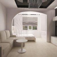 gaišā stila dzīvojamās istabas 16 kv.m foto piemērs