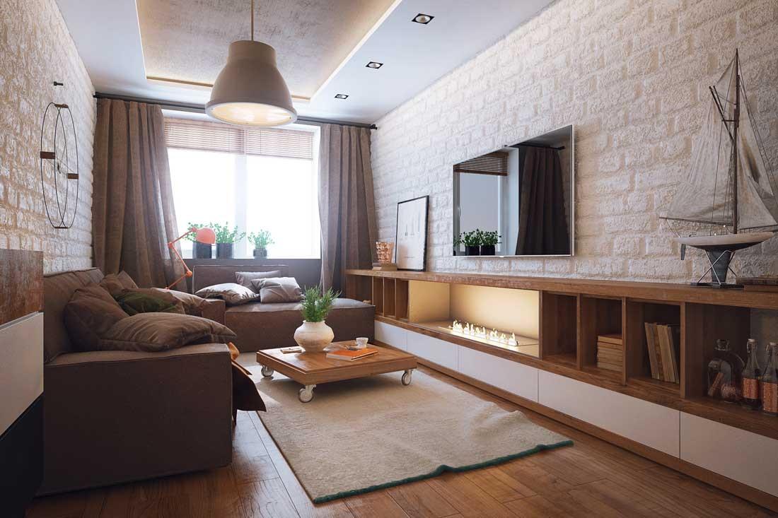 viesistabas skaistā stila versija 16 kv.m.