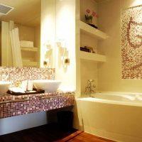 ideja par spilgtu vannas istabas dizainu 6 kv.m foto