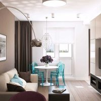 skaista dzīvokļa dizaina piemērs - 65 kv.m foto