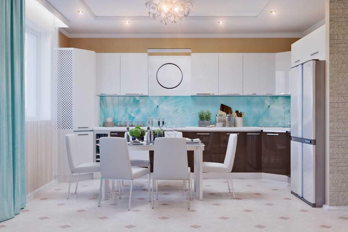dzīvokļa skaistā interjera variants ir 65 kv.m.