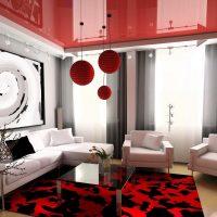 spilgts viesistabas dizains 16 kvadrātmetru attēlā