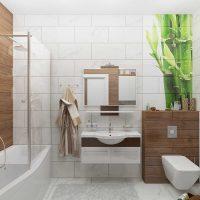 ideja par neparastu vannas istabas dizainu 6 kv.m foto