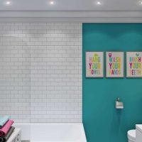 gaiša vannas istabas interjera iespēja - 6 kv.m attēls