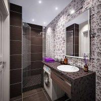 neparastā vannas istabas stila foto versija 6 kv.m.