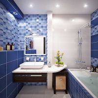 ideja par modernu vannas istabas interjeru 6 kv.m foto