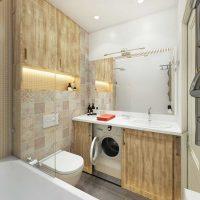 skaista vannas istabas dizaina versija 6 kv.m fotoattēlā