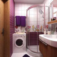 vannas istabas gaišā dizaina variants 6 kv.m foto
