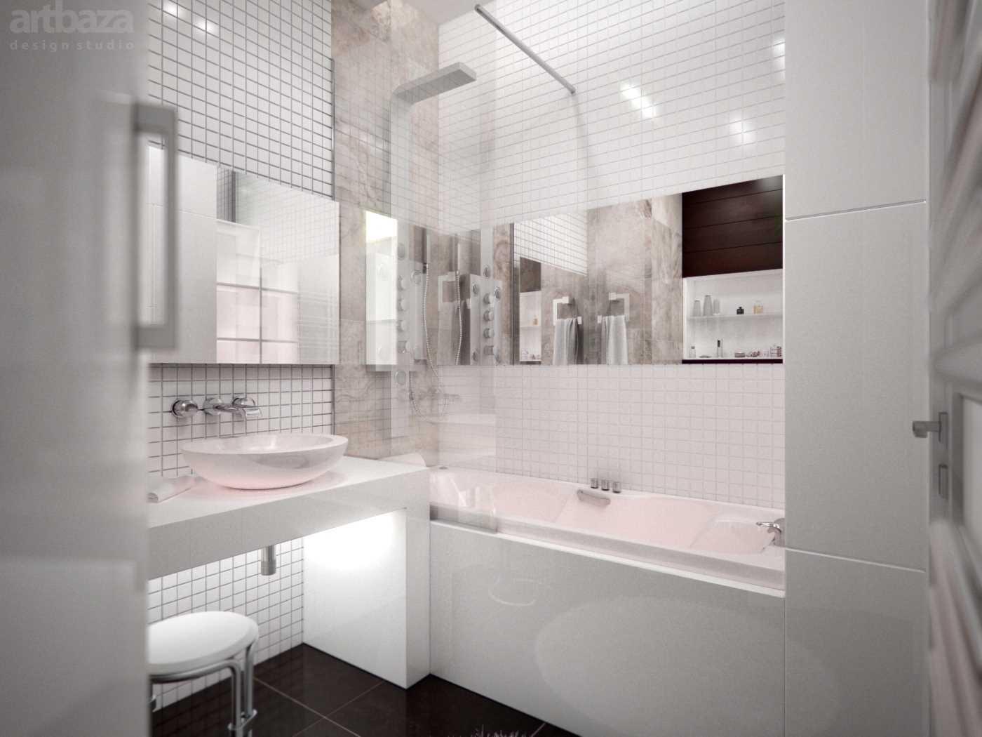 ideja par neparastu vannas istabas stilu 6 kv.m platībā