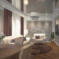 Neparasta dzīvokļa interjera piemērs 65 kv.m.