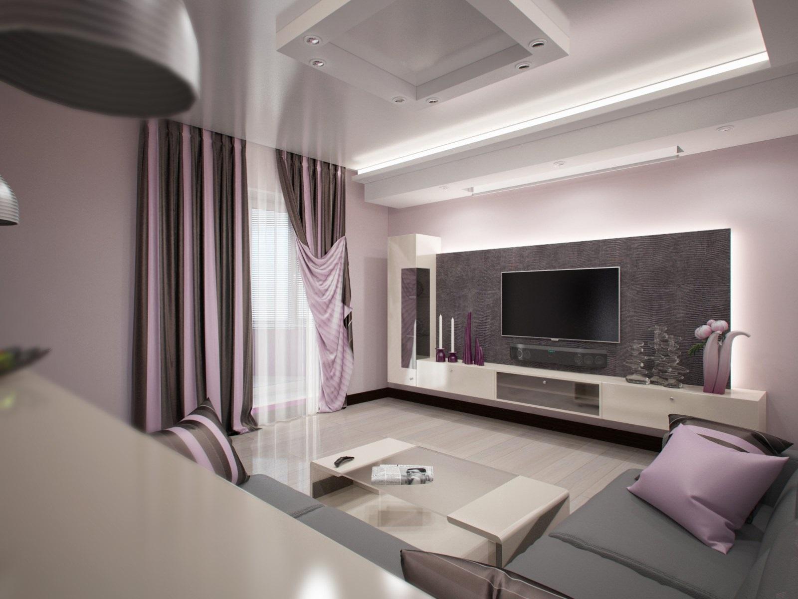 neparastas dzīvojamās istabas interjera piemērs 16 kv.m.