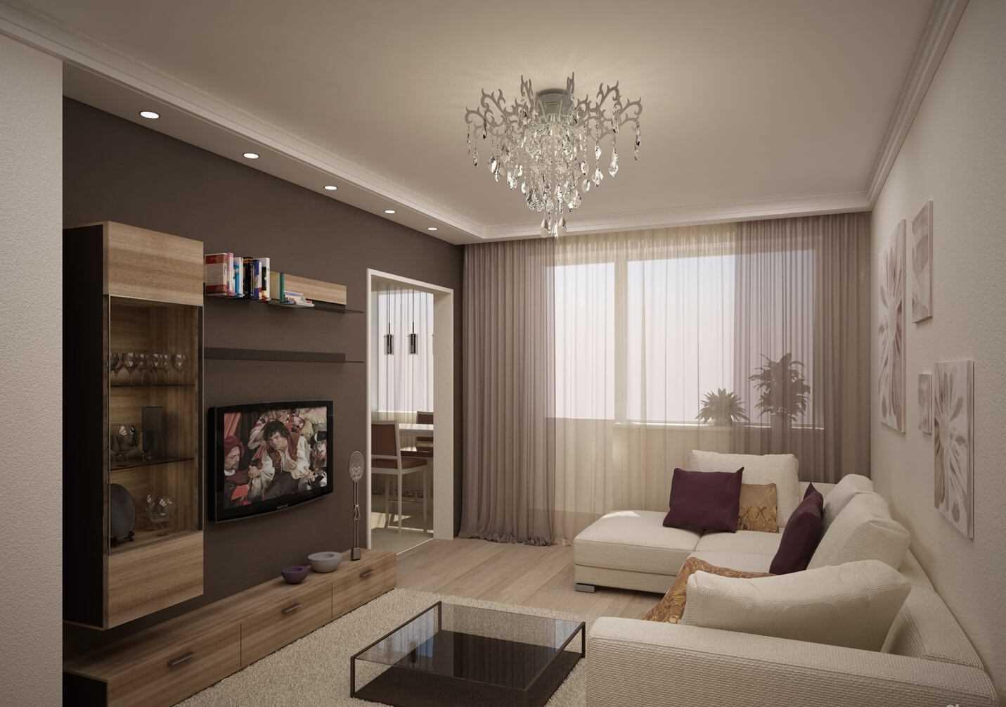 Moderna 65 kv.m dzīvokļa gaišā dizaina piemērs