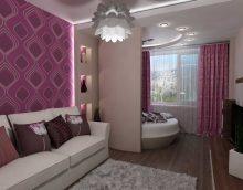 version du design inhabituel du salon image de 25 m2