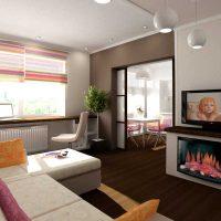 moderna dzīvokļa spilgta dekoru varianta foto 65 kv.m.
