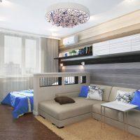 skaista viesistabas interjera piemērs 16 kv.m foto