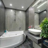 ideja par neparastu vannas istabas interjeru 6 kv.m foto
