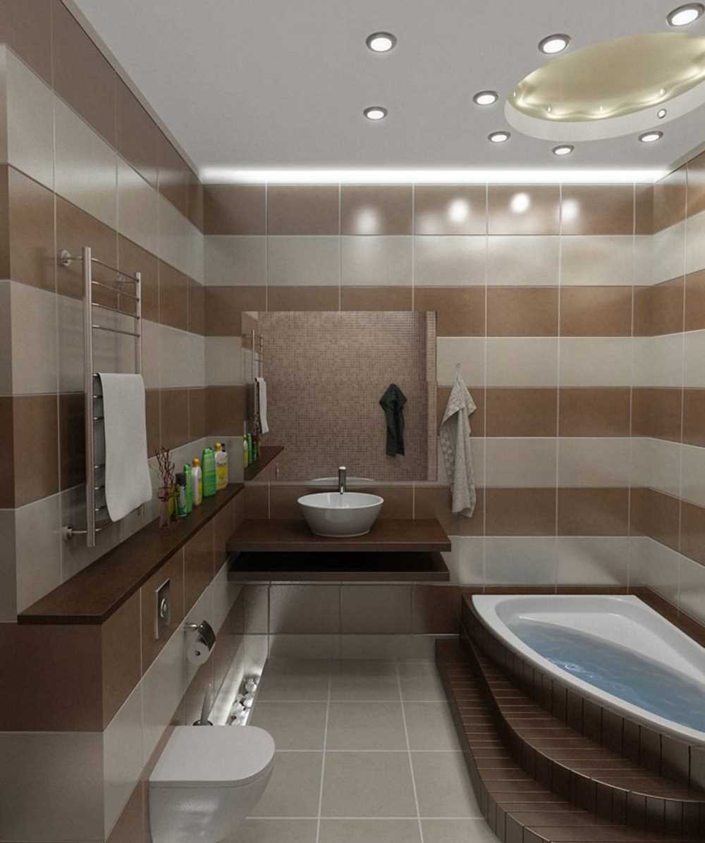 skaistā vannas istabas dizaina versija ar platību 6 kv.m