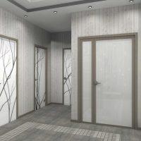 moderna dzīvokļa neparasta interjera variants 65 kv.m foto
