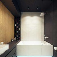 ideja par neparastu vannas istabas interjeru ar 6 kv.m attēlu