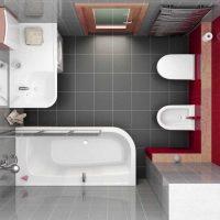 vannas istabas modernā stila versija 6 kv.m foto