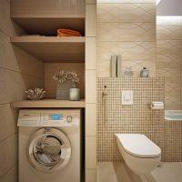 ideja par skaistu vannas istabas dizainu 6 kv.m foto
