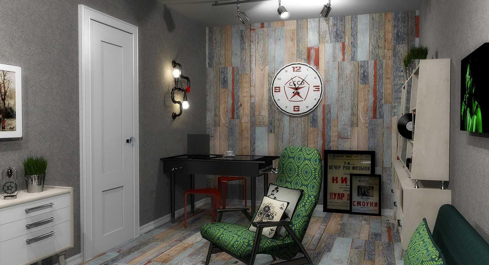 ideja par gaišu interjera istabu padomju stilā