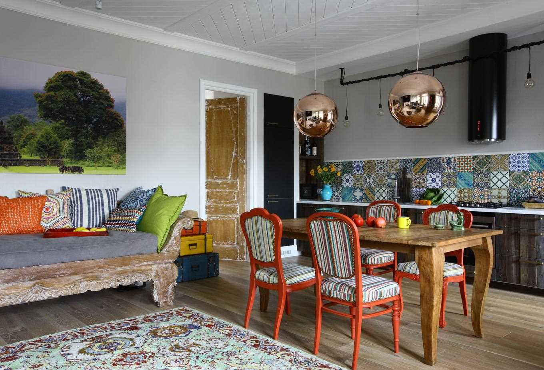 neparasta dzīvokļa dekora variants padomju stilā