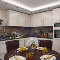 iespēja pielietot skaistu virtuves dekoru fotoattēlu