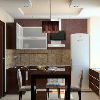 opcija skaista virtuves dizaina foto uzklāšanai