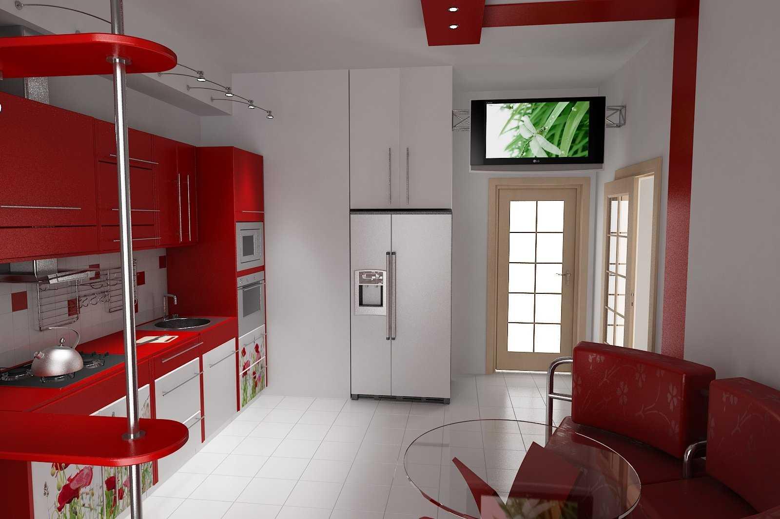 ideja izmantot neparastu virtuves dizainu