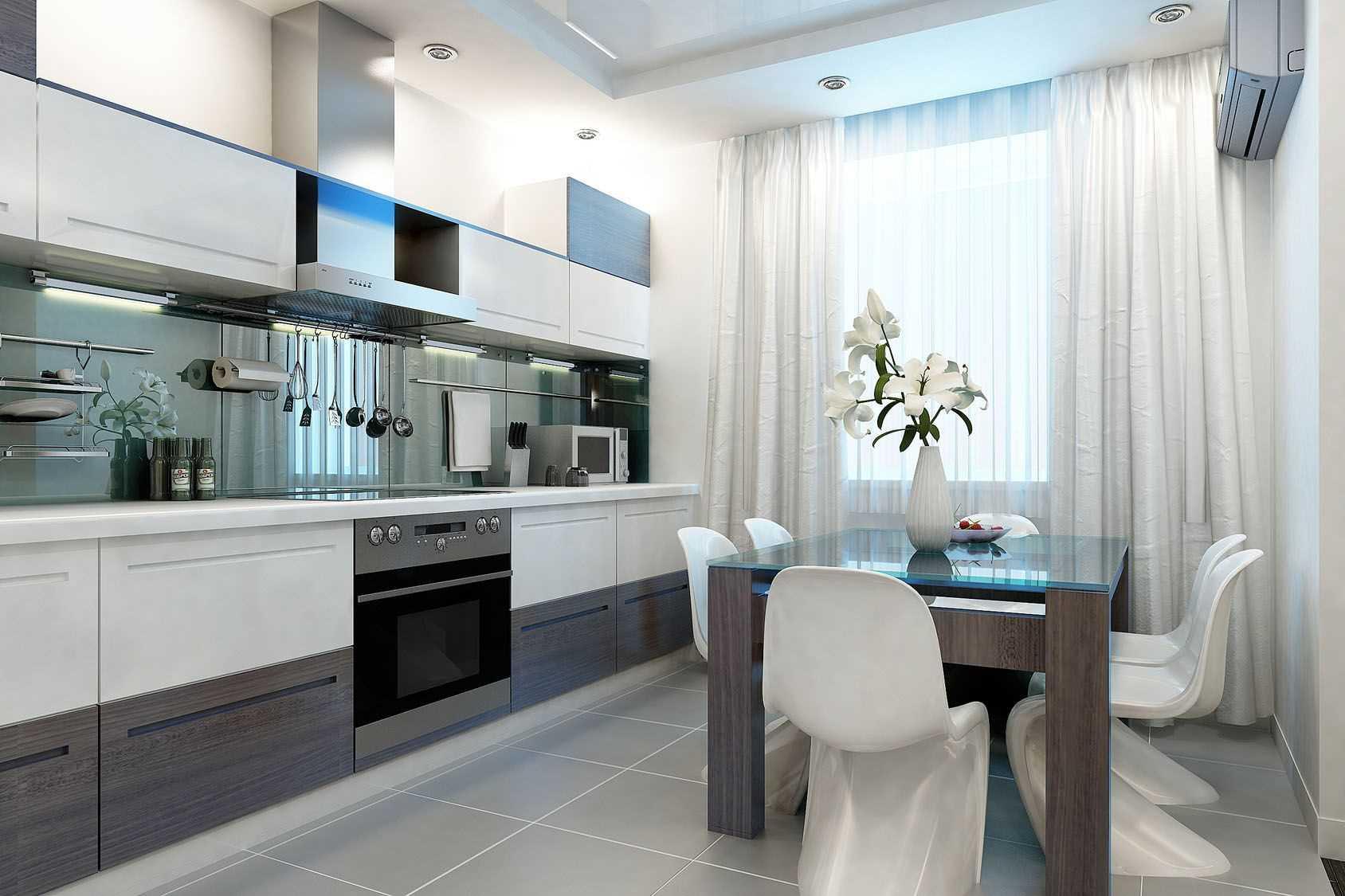 ideja piemērot gaišu virtuves stilu