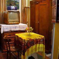 ideja par interesanta dzīvokļa stilu padomju stila fotoattēlā