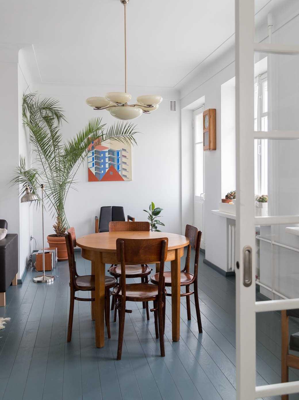 ideja par neparastu dzīvokļa dizainu padomju stilā