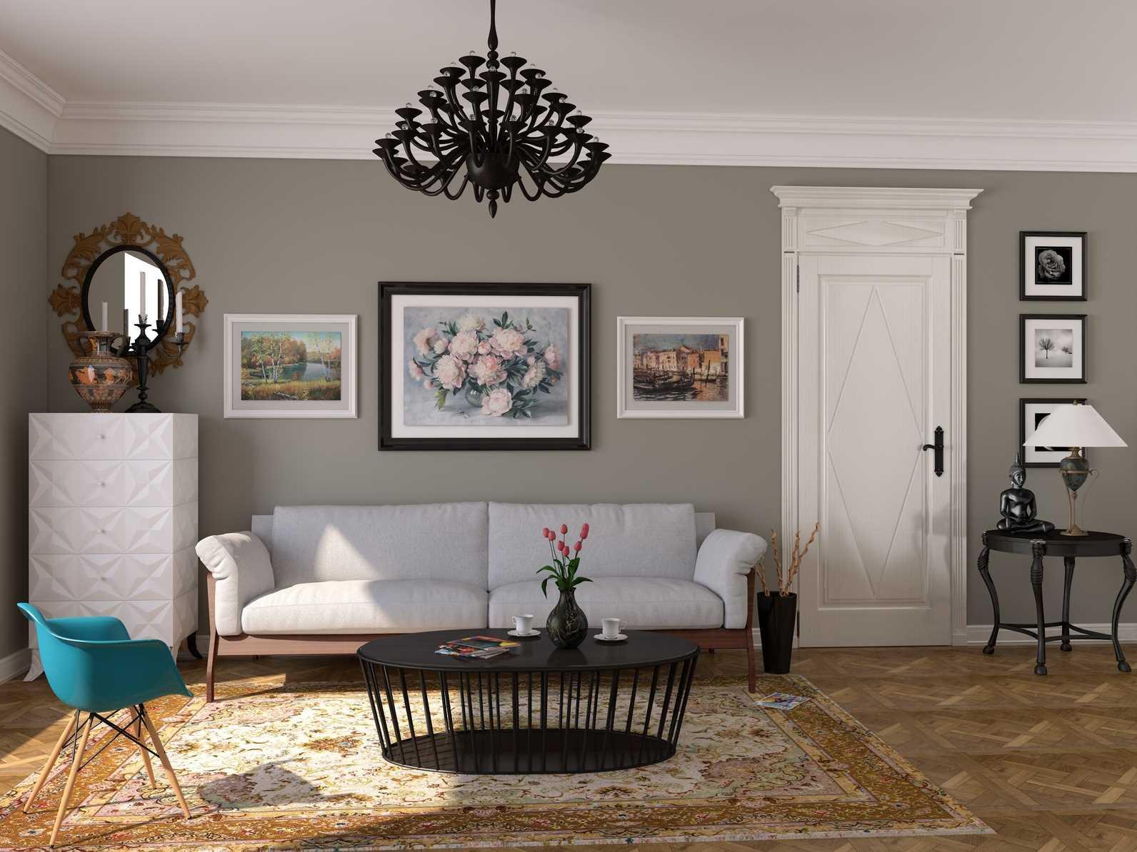 istabas gaišā stila variants padomju stilā
