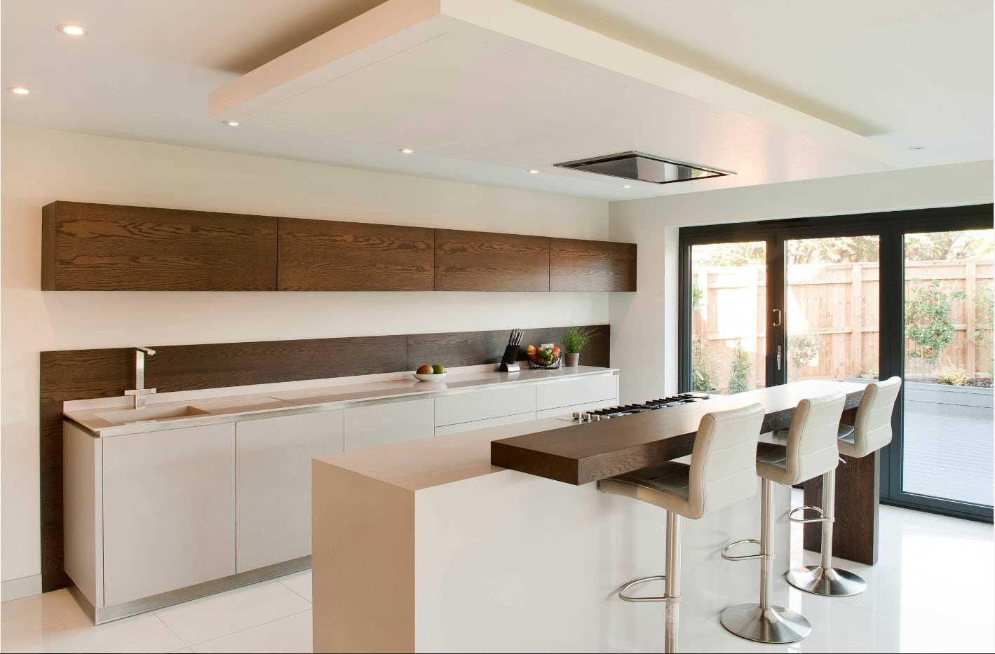 Spoža virtuves dizaina pielietojuma variants