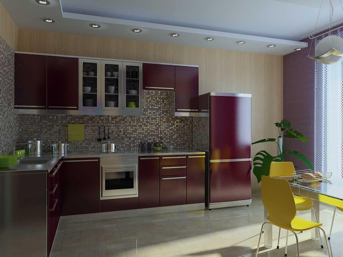 neparasta virtuves dekora izmantošanas piemērs