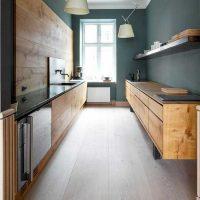 Ideja par gaismas virtuves dizaina foto pielietošanu