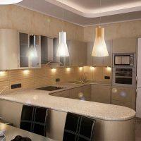 Vieglas virtuves dizaina foto piemērošanas piemērs