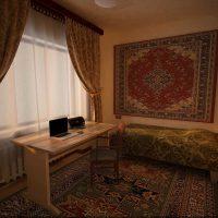 neparasta dzīvokļa dekora versija padomju stila fotoattēlā
