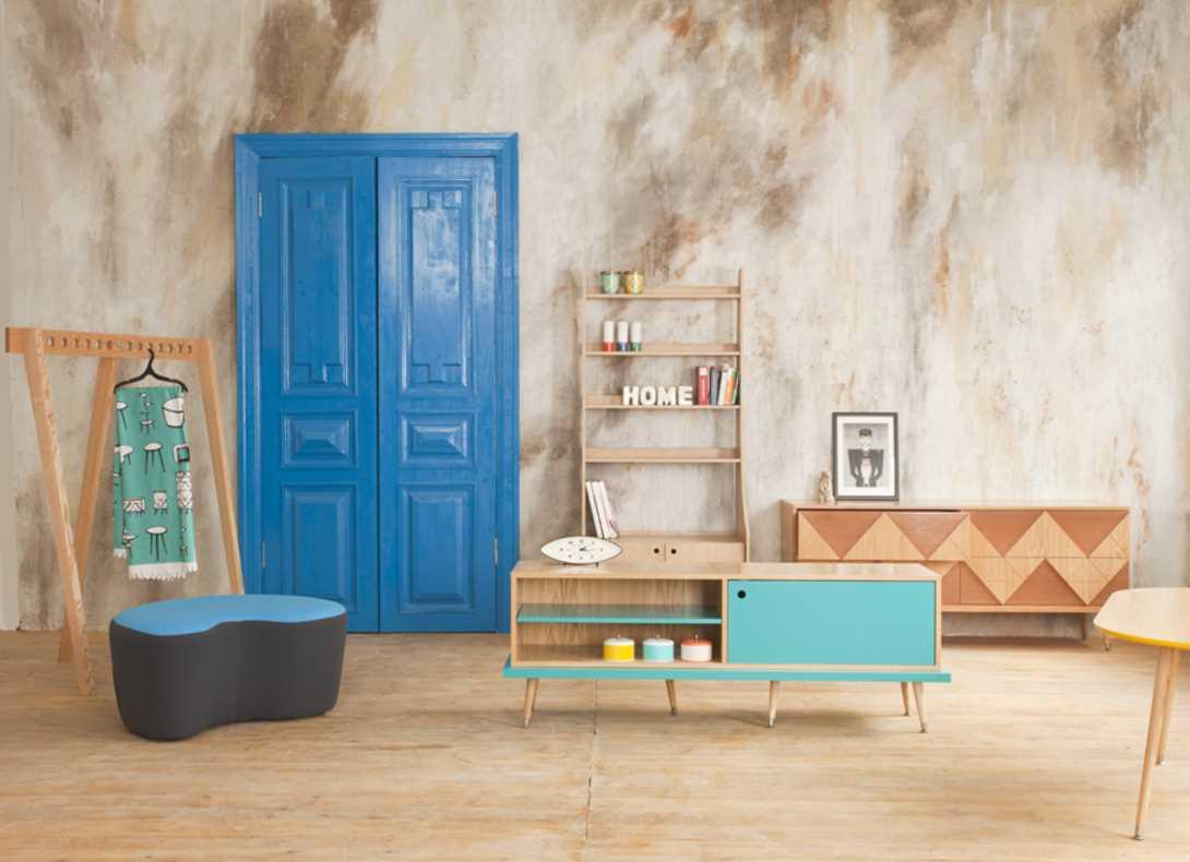 neparasta istabas dekora variants padomju stilā