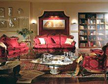 ideja par gaišu mājas interjeru romānikas stila attēlā