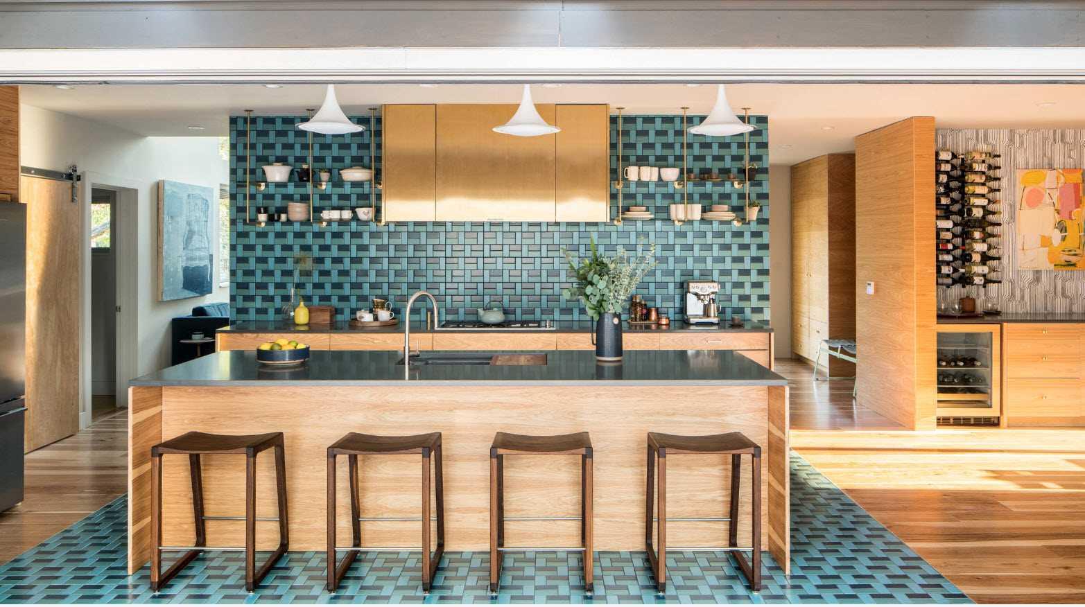spilgta virtuves dekora piemērošanas piemērs