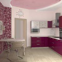 ideja piemērot spilgtu virtuves dekoru attēlu